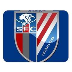 Shanghai Greenland Shenhua F C  Double Sided Flano Blanket (large)  by Valentinaart