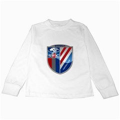 Shanghai Greenland Shenhua F C  Kids Long Sleeve T Shirts by Valentinaart