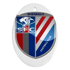 Shanghai Greenland Shenhua F C  Oval Ornament (two Sides) by Valentinaart
