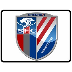 Shanghai Greenland Shenhua F C  Fleece Blanket (large)  by Valentinaart