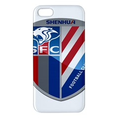 Shanghai Greenland Shenhua F C  Apple Iphone 5 Premium Hardshell Case by Valentinaart