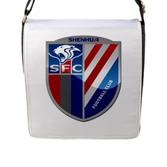 Shanghai Greenland Shenhua F C  Flap Messenger Bag (l)  by Valentinaart