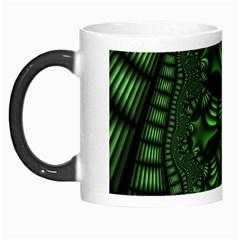 Fractal Drawing Green Spirals Morph Mugs by Simbadda