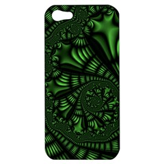 Fractal Drawing Green Spirals Apple Iphone 5 Hardshell Case by Simbadda