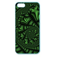 Fractal Drawing Green Spirals Apple Seamless iPhone 5 Case (Color)