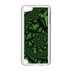 Fractal Drawing Green Spirals Apple Ipod Touch 5 Case (white) by Simbadda