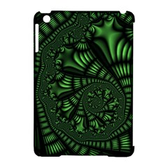 Fractal Drawing Green Spirals Apple Ipad Mini Hardshell Case (compatible With Smart Cover) by Simbadda
