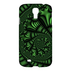 Fractal Drawing Green Spirals Samsung Galaxy S4 I9500/i9505 Hardshell Case by Simbadda