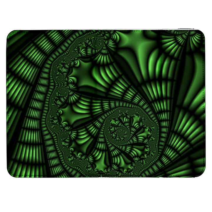 Fractal Drawing Green Spirals Samsung Galaxy Tab 7  P1000 Flip Case