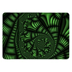 Fractal Drawing Green Spirals Samsung Galaxy Tab 8 9  P7300 Flip Case by Simbadda