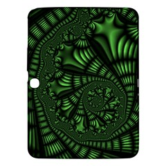 Fractal Drawing Green Spirals Samsung Galaxy Tab 3 (10 1 ) P5200 Hardshell Case  by Simbadda