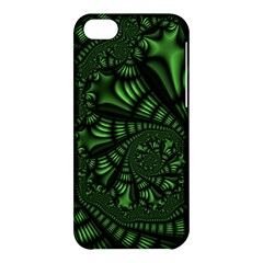 Fractal Drawing Green Spirals Apple Iphone 5c Hardshell Case by Simbadda