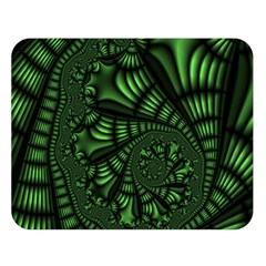 Fractal Drawing Green Spirals Double Sided Flano Blanket (large)  by Simbadda