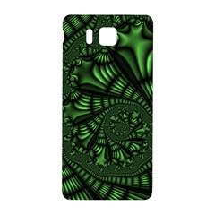 Fractal Drawing Green Spirals Samsung Galaxy Alpha Hardshell Back Case by Simbadda
