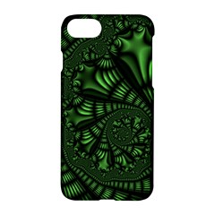 Fractal Drawing Green Spirals Apple Iphone 7 Hardshell Case by Simbadda