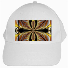 Fractal Yellow Butterfly In 3d Glass Frame White Cap by Simbadda