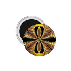 Fractal Yellow Butterfly In 3d Glass Frame 1 75  Magnets by Simbadda