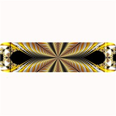 Fractal Yellow Butterfly In 3d Glass Frame Large Bar Mats by Simbadda