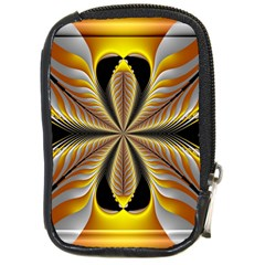 Fractal Yellow Butterfly In 3d Glass Frame Compact Camera Cases by Simbadda