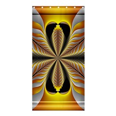 Fractal Yellow Butterfly In 3d Glass Frame Shower Curtain 36  X 72  (stall)  by Simbadda