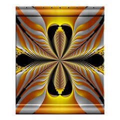 Fractal Yellow Butterfly In 3d Glass Frame Shower Curtain 60  X 72  (medium)  by Simbadda