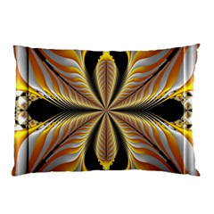 Fractal Yellow Butterfly In 3d Glass Frame Pillow Case (two Sides) by Simbadda