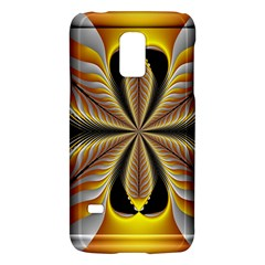 Fractal Yellow Butterfly In 3d Glass Frame Galaxy S5 Mini by Simbadda