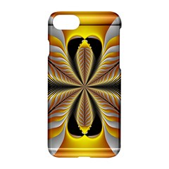 Fractal Yellow Butterfly In 3d Glass Frame Apple Iphone 7 Hardshell Case by Simbadda