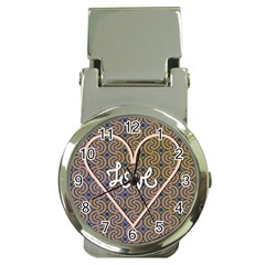 I Love You Love Background Money Clip Watches by Simbadda
