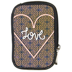 I Love You Love Background Compact Camera Cases by Simbadda