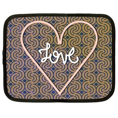 I Love You Love Background Netbook Case (xl)  by Simbadda