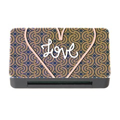 I Love You Love Background Memory Card Reader With Cf by Simbadda