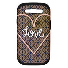 I Love You Love Background Samsung Galaxy S Iii Hardshell Case (pc+silicone) by Simbadda