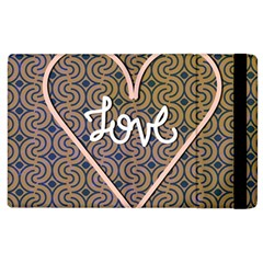 I Love You Love Background Apple Ipad 3/4 Flip Case by Simbadda