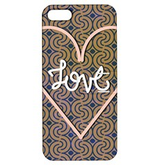 I Love You Love Background Apple Iphone 5 Hardshell Case With Stand by Simbadda