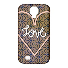 I Love You Love Background Samsung Galaxy S4 Classic Hardshell Case (pc+silicone) by Simbadda