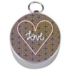I Love You Love Background Silver Compasses by Simbadda