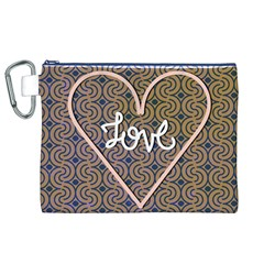 I Love You Love Background Canvas Cosmetic Bag (xl) by Simbadda