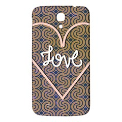 I Love You Love Background Samsung Galaxy Mega I9200 Hardshell Back Case by Simbadda