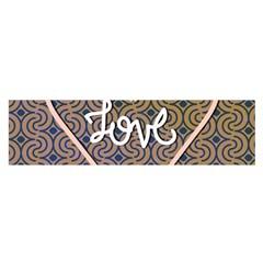 I Love You Love Background Satin Scarf (oblong) by Simbadda