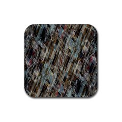 Abstract Chinese Background Created From Building Kaleidoscope Rubber Square Coaster (4 Pack)  by Simbadda