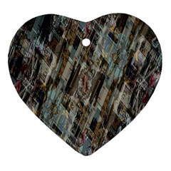 Abstract Chinese Background Created From Building Kaleidoscope Heart Ornament (two Sides) by Simbadda