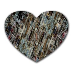 Abstract Chinese Background Created From Building Kaleidoscope Heart Mousepads by Simbadda