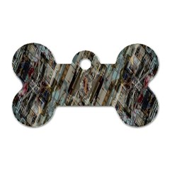 Abstract Chinese Background Created From Building Kaleidoscope Dog Tag Bone (two Sides) by Simbadda