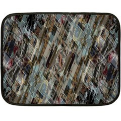 Abstract Chinese Background Created From Building Kaleidoscope Double Sided Fleece Blanket (mini)  by Simbadda