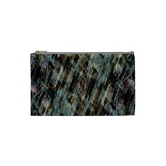 Abstract Chinese Background Created From Building Kaleidoscope Cosmetic Bag (small)  by Simbadda