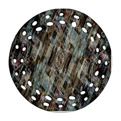 Abstract Chinese Background Created From Building Kaleidoscope Round Filigree Ornament (two Sides) by Simbadda