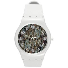 Abstract Chinese Background Created From Building Kaleidoscope Round Plastic Sport Watch (m) by Simbadda