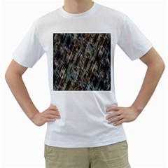 Abstract Chinese Background Created From Building Kaleidoscope Men s T Shirt (white)  by Simbadda