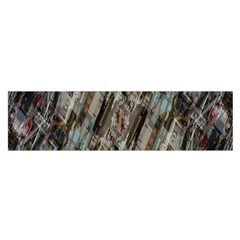 Abstract Chinese Background Created From Building Kaleidoscope Satin Scarf (oblong) by Simbadda